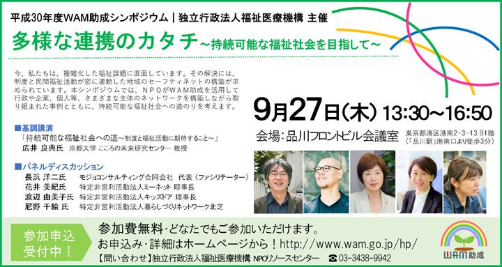 平成30年度 WAM助成シンポジウム